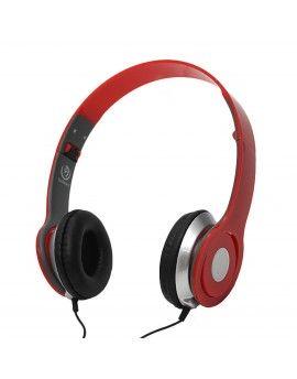 Słuchawki przewodowe nauszne CZERWONE