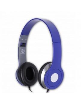 Słuchawki przewodowe nauszne NIEBIESKIE