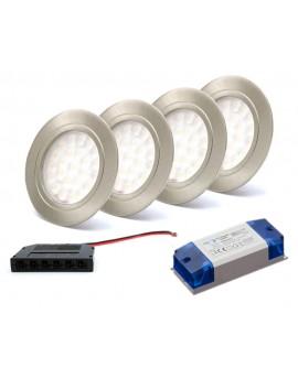 Zestaw oświetlenia podszafkowego 2x oprawka + zasilacz + rozdzielacz
