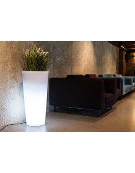 Podświetlana donica HABANA biała light