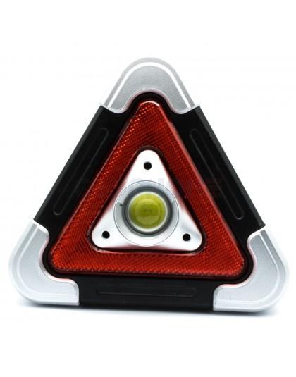2w1 trójkąt ostrzegawczy + latarka