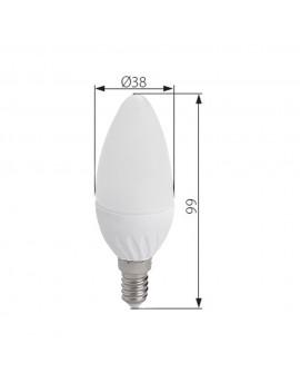 Żarówka LED świeczka E14 4,5W 400lm neutralna