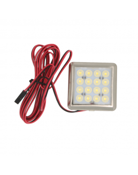 Oprawa meblowa LED 1,5W 12V kwadrat zimna/ciepła biała