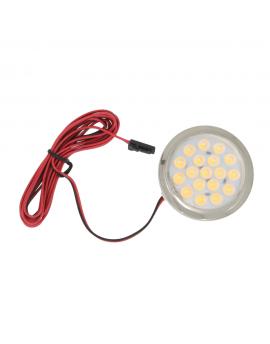 Oprawa meblowa LED 1,5W 12V okrągła zimna/ciepła biała